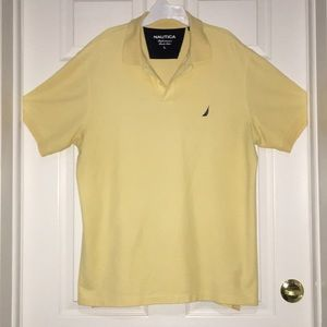 Nautica Large Men's Yellow Polo